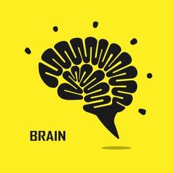 Creative brain abstract vector logo design template. Corporate business industrial creative logotype symbol.Vector illustration