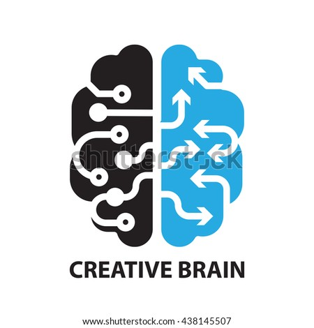 creative brain ,icon and symbol