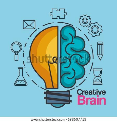 creative brain idea lightbulb...