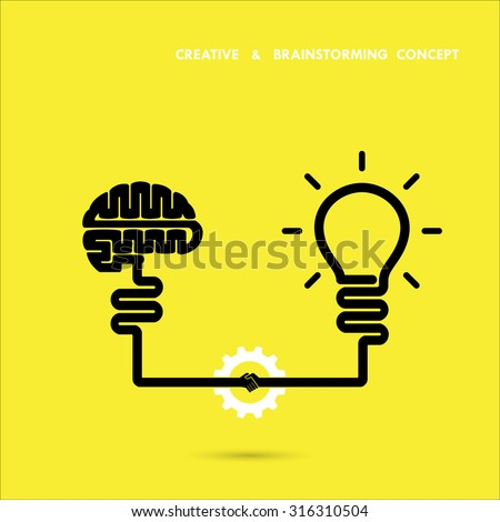 creative brainstorm concept...