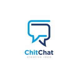 Creative Bubble Chat Concept Logo Design Template