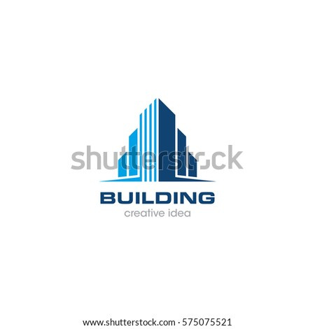 Creative Building Concept Logo Design Template