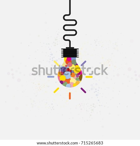Creative bulb light idea abstract vector design template.Concept of ideas inspiration,innovation,invention,effective thinking,knowledge and education.Corporate business industrial creative vector icon