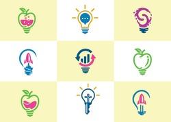 Creative Bulb logo vector template