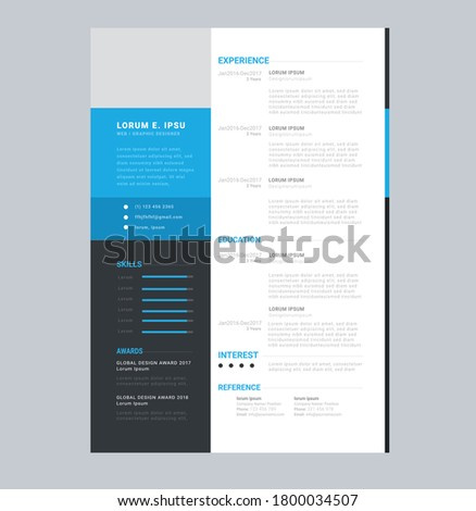 creative business brochure flyer reflet resume design Foto stock ©
