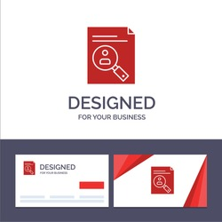 Creative Business Card and Logo template Application, Clipboard, Curriculum, Cv, Resume, Staff Vector Illustration