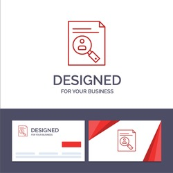 Creative Business Card and Logo template Application, Clipboard, Curriculum, Cv, Resume, Staff Vector Illustration. Vector Icon Template background