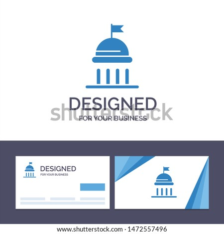 Creative Business Card and Logo template Campaign, Political, Politics, Vote Vector Illustration