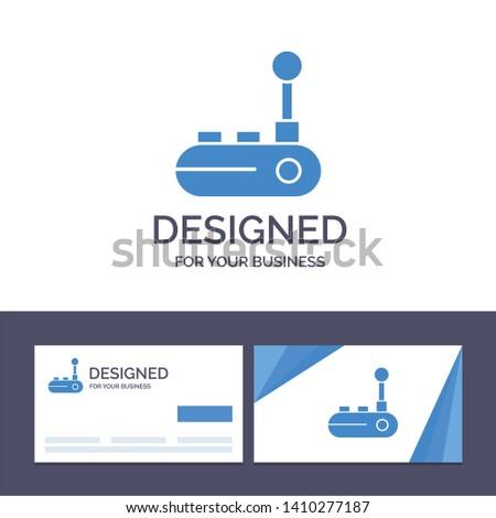 Creative Business Card and Logo template Controller, Joy Pad, Joy Stick, Joy pad Vector Illustration