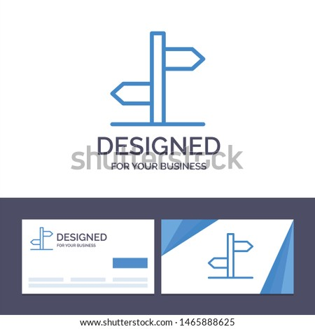 Creative Business Card and Logo template Direction, Logistic, Board, Sign Vector Illustration. Vector Icon Template background Zdjęcia stock ©