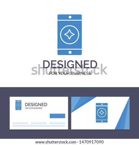 Creative Business Card and Logo template Favorite Mobile, Mobile, Mobile Application Vector Illustration. Vector Icon Template background