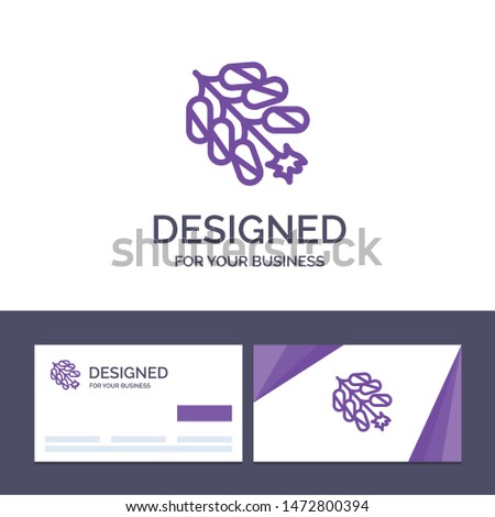 Creative Business Card and Logo template Firework, China, Chinese, Firecracker Vector Illustration