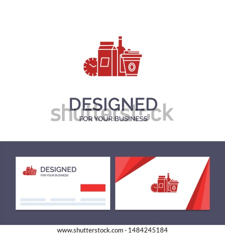 Creative Business Card and Logo template Food, Items, Milk, Items, Coffee Vector Illustration. Vector Icon Template background