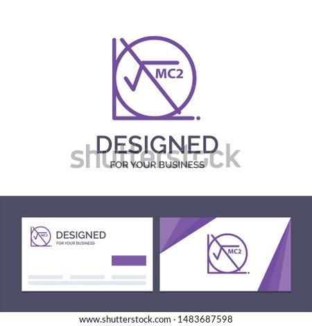 Creative Business Card and Logo template Math, Formula, Math Formula, Education Vector Illustration