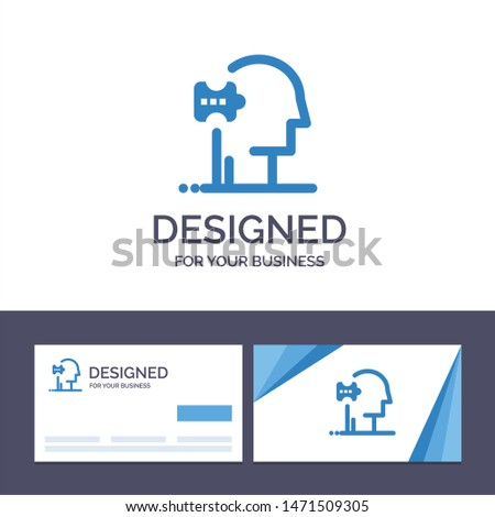 Creative Business Card and Logo template Psychiatry, Psychology, Solution, Solutions Vector Illustration