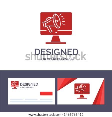 Creative Business Card and Logo template Speaker, High Volume, Loudspeaker, Speaker, Voice Vector Illustration. Vector Icon Template background
