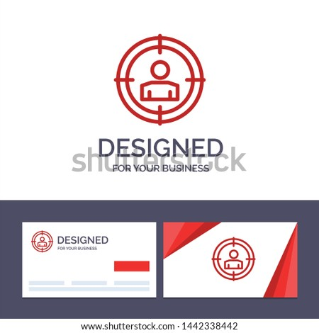 Creative Business Card and Logo template Target  Focus, Audience Targeting, Vector Illustration