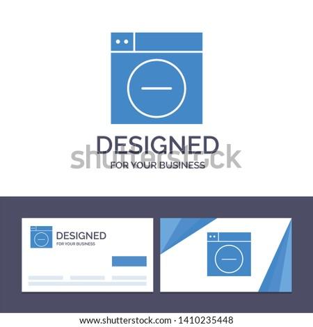 Creative Business Card and Logo template Web, Design, Less, minimize Vector Illustration