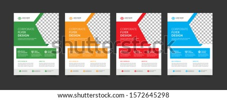 Creative Business Flyer Template. corporate flyer. business flyer. Flyer design color full.