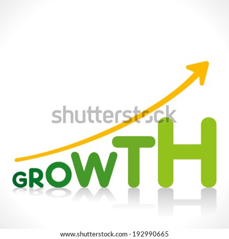 creative business growth graphics design with growth word design concept vector