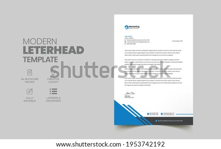 Creative business letterhead corporate layout, letterhead design Simple and clean print-ready Modern Business style design