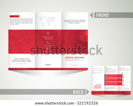 free vector tri fold brochure download free vector art stock
