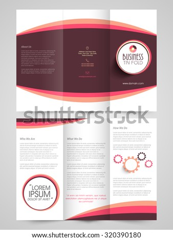 creative business trifold flyer banner or template design in