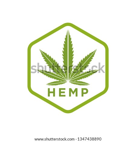 Creative Cannabis Leaf Vector Logo Icon Template for CBD Cannabidiol Cannabis Hemp Marijuana Medical Pharmaceutical Industry And Bussiness Company