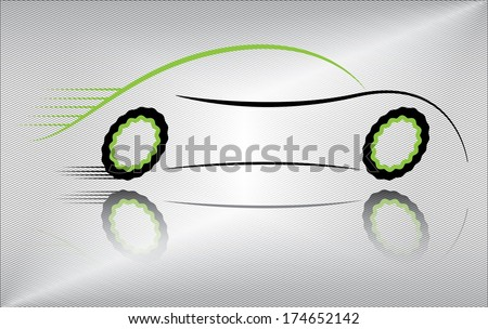 Outline of a Sports Car Outline of a Sport Vehicle in