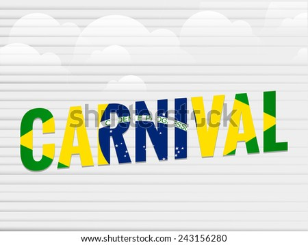 creative carnival abstract with