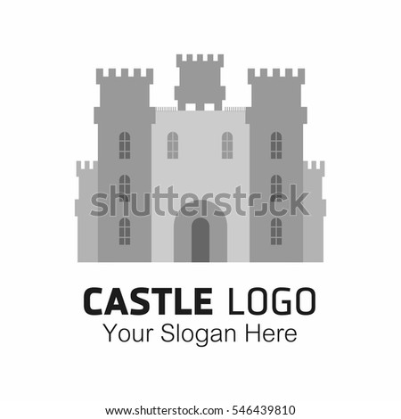 creative castle logo  isolated