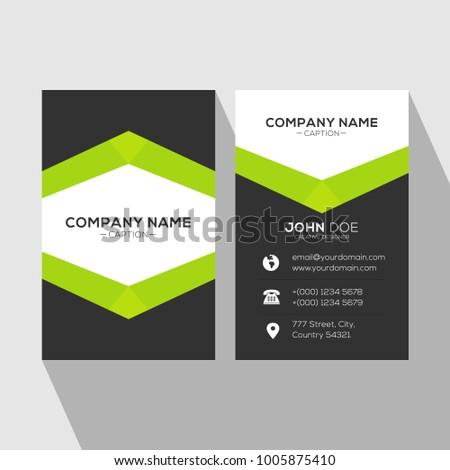 Creative Catchy Professional Green Business Card