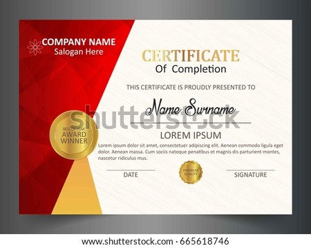 Certificate award template with clean and modern pattern download creative certificate template with clean and modern patternvector illustration yelopaper Gallery