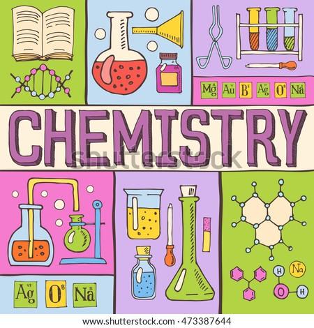 creative chemistry hand drawn...