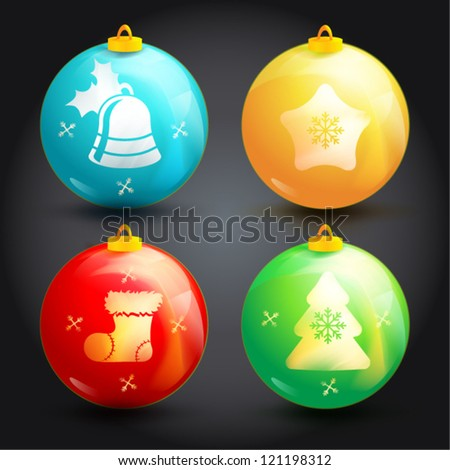 Creative Christmas ball isolated on  background