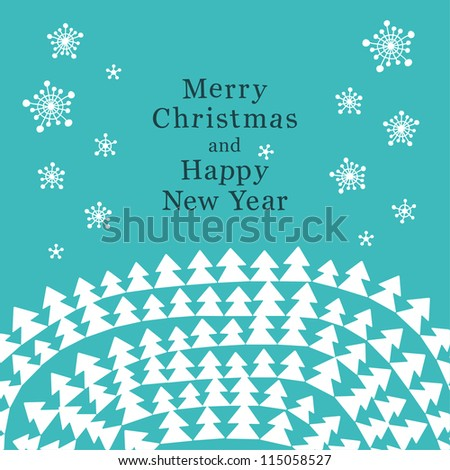 Creative Christmas card. Vector illustration - stock vector