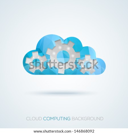 Creative cloud computing concept background. Vector illustration.