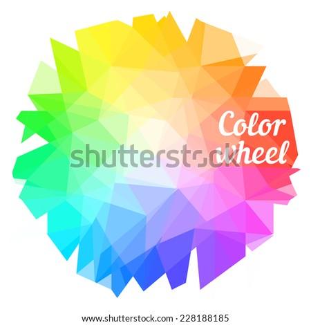 creative color wheel vector