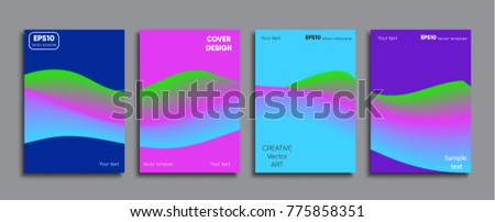Creative colored cover. Cover design.