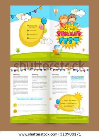 creative colorful brochure