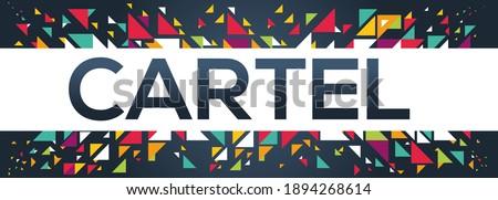 creative colorful (cartel) text design, written in English language, vector illustration.  Foto stock ©