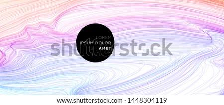 Creative colorful flow lines geometric background. Trendy wave liquid composition design. Eps10 vector illustration