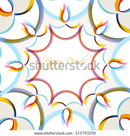 creative colorful happy diwali vector background