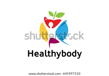 Creative Colorful Healthy Spiritual Body Logo Design Symbol Vector Illustration