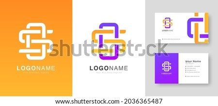 Creative Colorful Initial S or O Letter  Logo With Premium Business Card Design Vector Template for Your Company Business Stock fotó ©