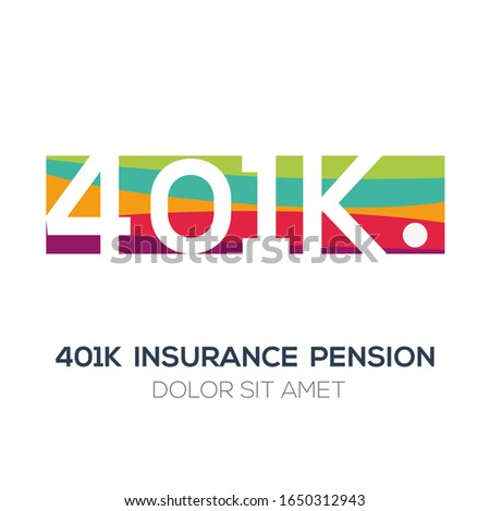 Creative colorful logo , 401k mean (401k insurance pension) .