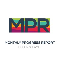 Creative colorful logo , MPR mean (monthly progress report) .