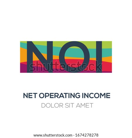 Creative colorful logo , NOI mean (net operating income) .