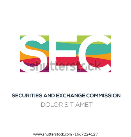 Creative colorful logo , SEC mean (securities and exchange commission) .