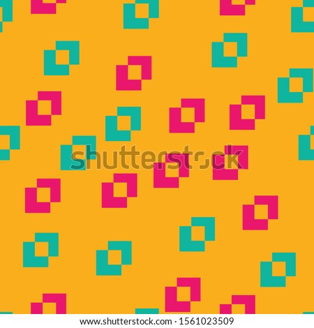 Creative colorful modern pattern texture with different shapes. Ikea style orange color background vector illustration.